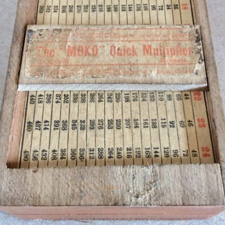 Detail: Antique transfer printed wooden pencil box. Made in Bavaria c1900.
