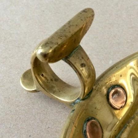 Detail: Antique Georgian  brass chamberstick
