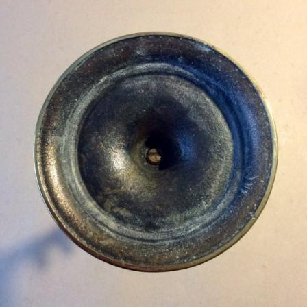 Detail: Vintage brass open twist candlesticks,