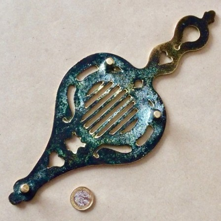 Detail: Antique Victorian cast brass Iron stand or trivet.