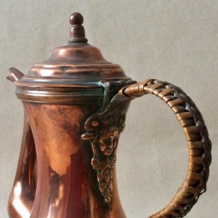 Detail: Antique copper coffee pot c1800