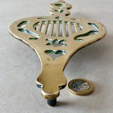 Detail: Antique Victorian cast brass Iron stand or trivet.