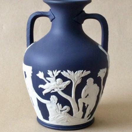Detail: Vintage Wedgwood jasperware Portland vase.