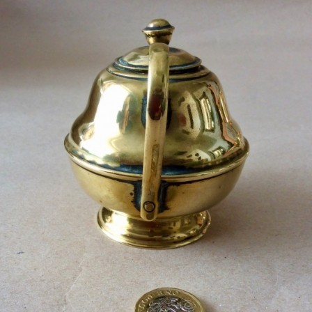 Detail: Early 20th century miniature brass teapot