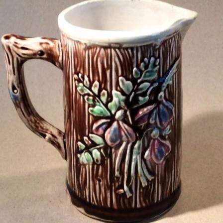 Detail: Victorian majolica milk jug