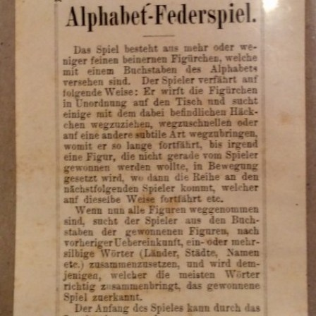 Detail: C19 German spillikins game.