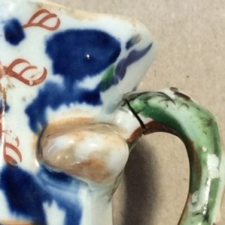 Detail: Antique Masons Ironstone miniature Japan patter Hydra jug